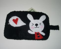 Kawaii Bunny Felt Wallet by kiddomerriweather
