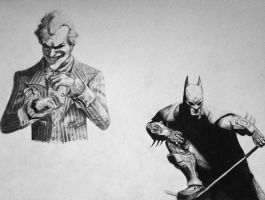 Batman sketches by Aestera