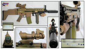 AGM SCAR (Airsoft) - A Photographic Study by RazielsFateK87