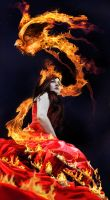 queen of the fire bird by RomanticFae