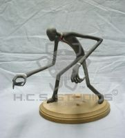 Slenderman Sculpture by BlackHoleInAJar