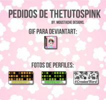 Pedidos de Thetutospink. by moustache-designs