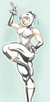 Chun Li panda outfit lazy coloring by 4hoursleep
