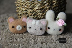 kawaii trio (for sale) by FluffyParcel
