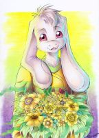''Here, Have Some Flowers'' by DarkHeart-Nightmare