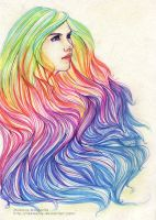 Rainbow Hair by ribkaDory