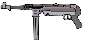 MP40 Submachine Gun by WhellerNG