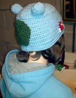 Bulbasaur hat back view by TinyHatter