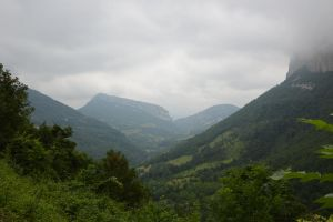 Montains of Vercors in clouds by A1Z2E3R