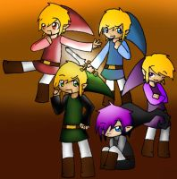 Four Swords group collab by Astralstonekeeper