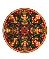 Abstract Design Mandala Colored by Maiko-Girl