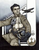 Poe Dameron by AdamWithers