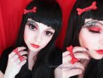 Crazy in red makeup look alternative cherry girl by cherrybomb-81