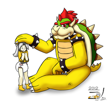 Big Bowser Babysitting by NinoSatori