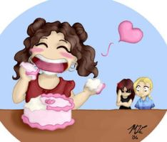 Eating Cake entry 1 by ChibiArt-Club