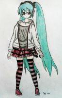 Hatsune Miku (outfit - Natural) by dvx69