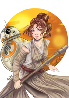 Rey STAR WARS by Phadme