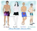 Gents of Penny Dreadful Summer AU by RedPassion