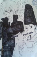 KHR i draw Alaudi and ugetsu Asari by Bluedragoncartoon