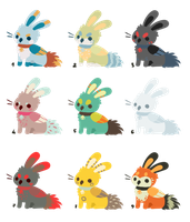 CLOSED - Bunny Griffs point adopts 3 by Chigle