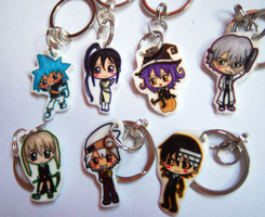 Soul Eater Keychains by IcyPanther1