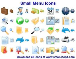 Small Menu Icons by shockvideo