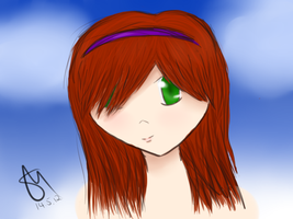 first doodle with tablet: Chloe by Nanashi-Higashi