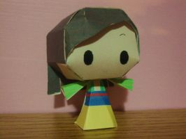 Mulan Chibi Papercraft by AnimeGang