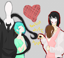 Slendy Lori Me + Jeff the killer by yukicaster