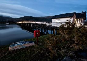 toll bridge early evening by CharmingPhotography