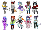 Anthro Adopts - OPEN by Valkeera