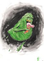 Slimer sketch by TreeBeerdy