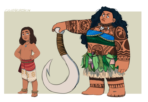 Moana and Maui Genderbender by Gidan-Kuroki