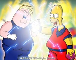 Peter Griffin vs Homero Simpson Z by lepeART