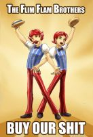 The Flim Flam Brothers by slifertheskydragon