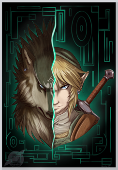 Updated Link And Link Wolf by shorty-antics-fanart