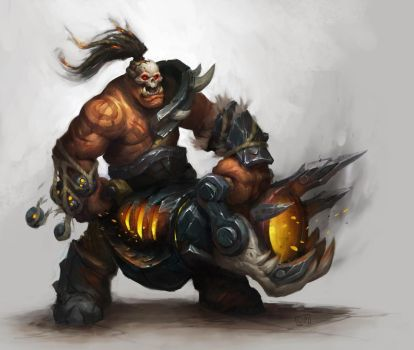 World of Warcraft: WOD - Orc Concept by murtcurf