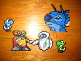Secret Santa perler gifts by Birdseednerd
