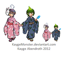 Mephy and Amai sprites by KaygeMonster
