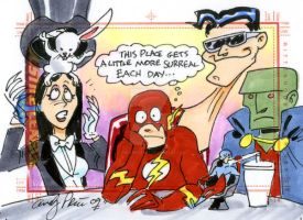 The surreal life of The Flash by andypriceart