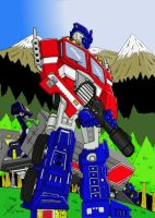 Optimus prime pin-up by GerHankey