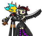 :Gift: Pyrus And Homura by LunaStarLightGirl