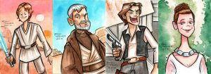 Star Wars Heroes by danidraws