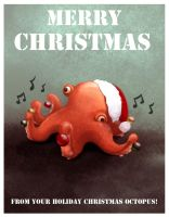 Holiday Christmas Octopus! by Chansey123