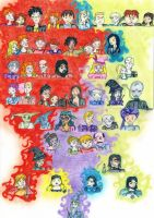 50 Harry Potter characters by Jadelane