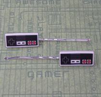 Nintendo NES Bobby Pins by PlayBox-Designs