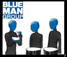 Blue Man Group by chillinchikjw