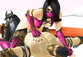 Scorpion x Mileena: let me tell to you one secret by Weskervit789