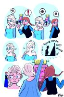 Frozen: Anna and Elsa and DDR by starlightv