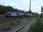 SBB cargo 482-022 with container train by damenster